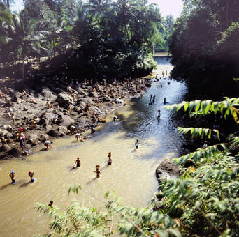 Förderung von Flusskies