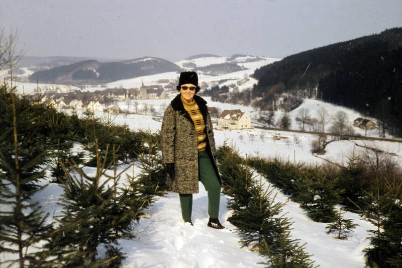 Brille, mantel, schnee, sonnenbrille, spaziergang, Tanne, winter