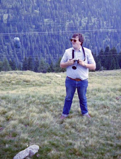 Berg, Fotoapparat, Hemd, lift, mode, sonnenbrille, wiese