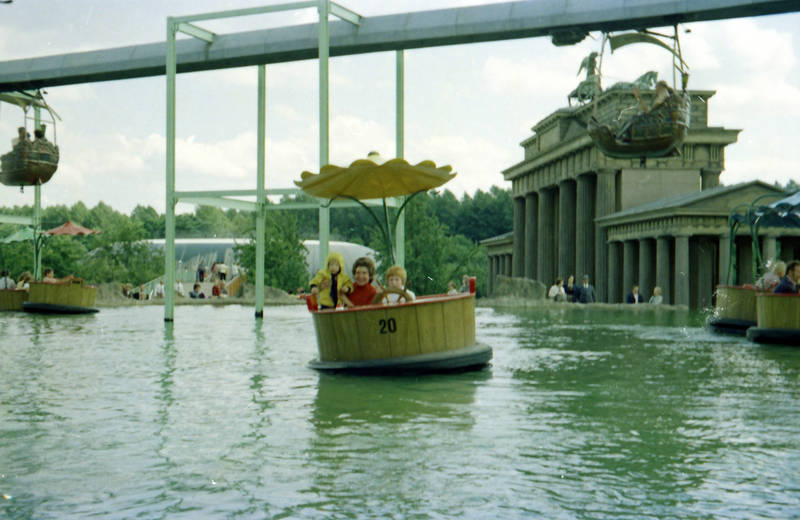 ausflug, familie, Freizeitpark, gebäude, Gondel, Phantasialand, Spaß