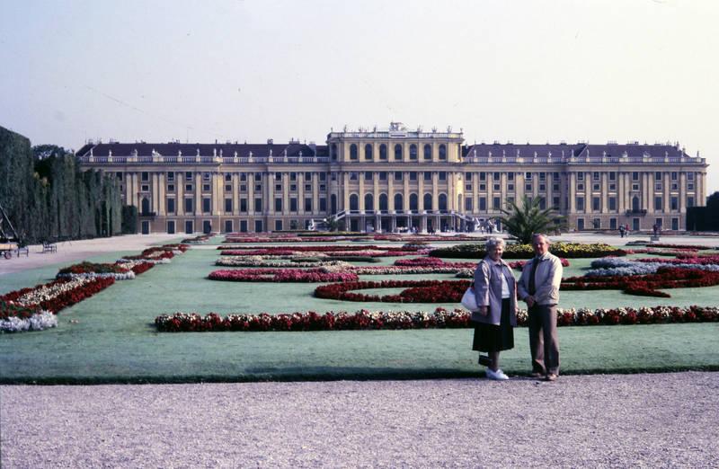 ausflug, Blumenbeet, Schloss, UNESCO-Weltkulturerbe, urlaub