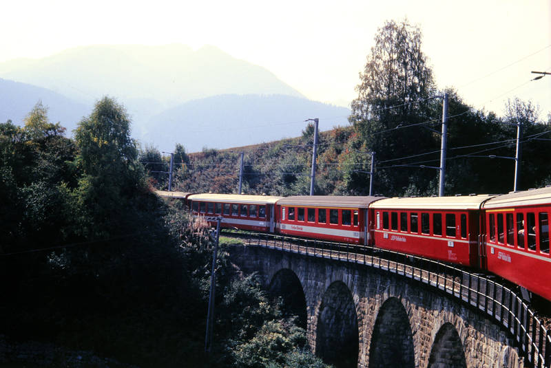 brücke, Disentis, Glacier-Express, Schweiz, Viadukt, zug, zugfahrt