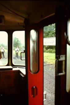 Blick aus einem Schienenbus