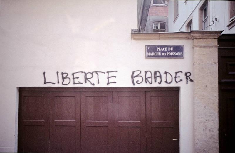 graffiti, Liberte Baader, Strasbourg