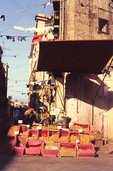 Balkon, Frucht, Italien, Obst, reise, Sizilien, urlaub, Waage, wäsche, Wäscheleine