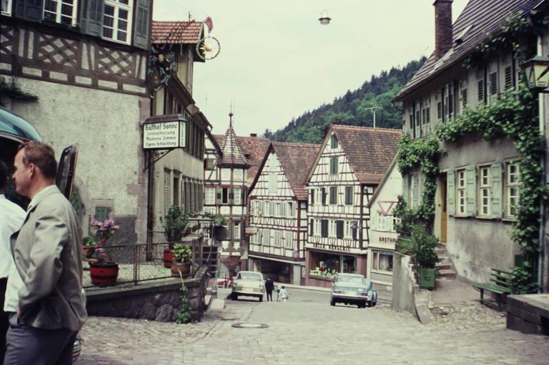 Erker, facherk, fachwerkhäuser, Gasthof, Gasthof zur Sonne, Hauptstraße, Hotel, Marktplatz, pfalz, Schiltach, schwarzwald