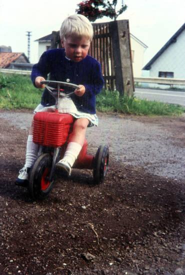 Dreirad, Kindheit, mode, Spaß, traktor
