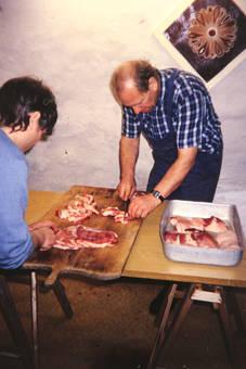 Schlachtung eines Schweines