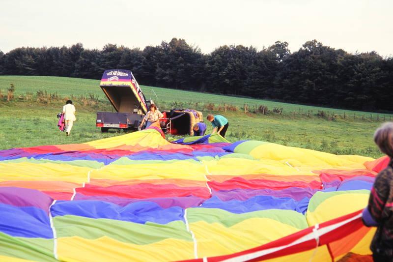 anhänger, Heißluftballon, Heißluftballonfahrt, Packen