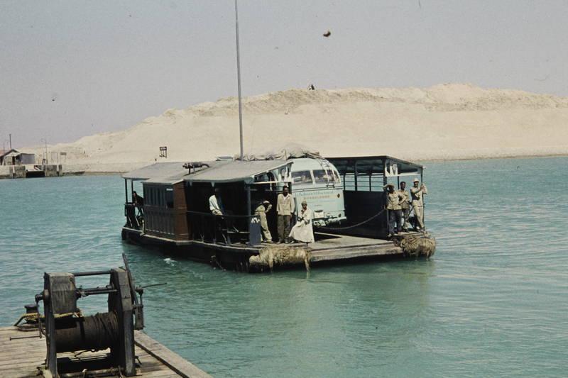 Ägypten, bus, fähre, mercedes, Nahost, Reisebus, Suezkanal