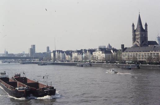 Rheinufer in Köln