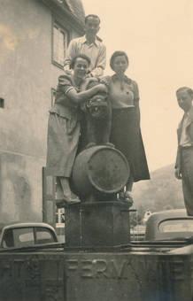 Foto am Brunnen
