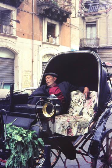 Catania, Italien, Kutsche, Schlaf, schlafen