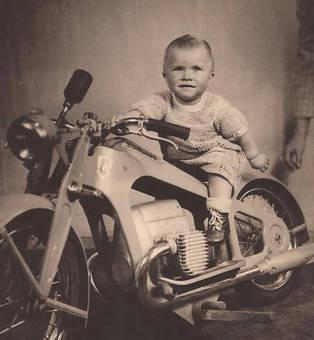 Motorrad Motiv 1949
