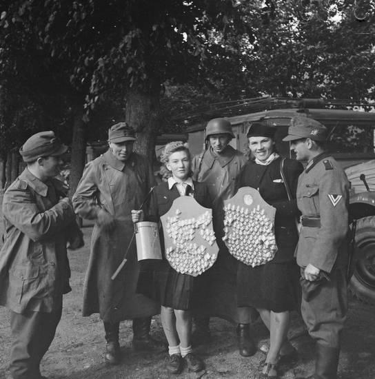 Gebirgsjäger, Geld Sammeln, Sammeln, Schild, soldat, Wehrmacht