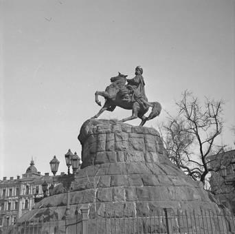 Reiterstatue in Kiew