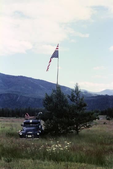 Amerika, auto, flagge, KFZ, PKW, reise, urlaub, usa