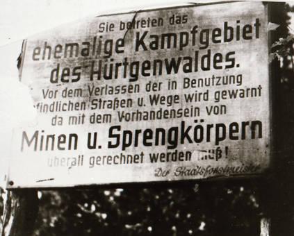 Gefahr im Hürtgenwald