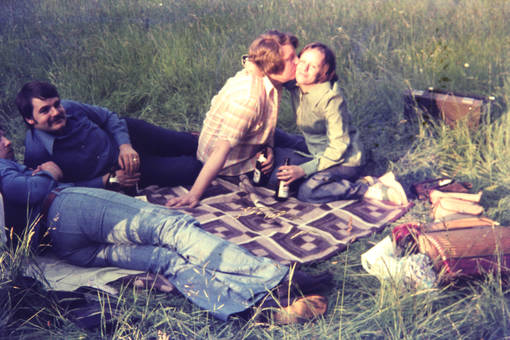 Ein Küsschen unter Freunden