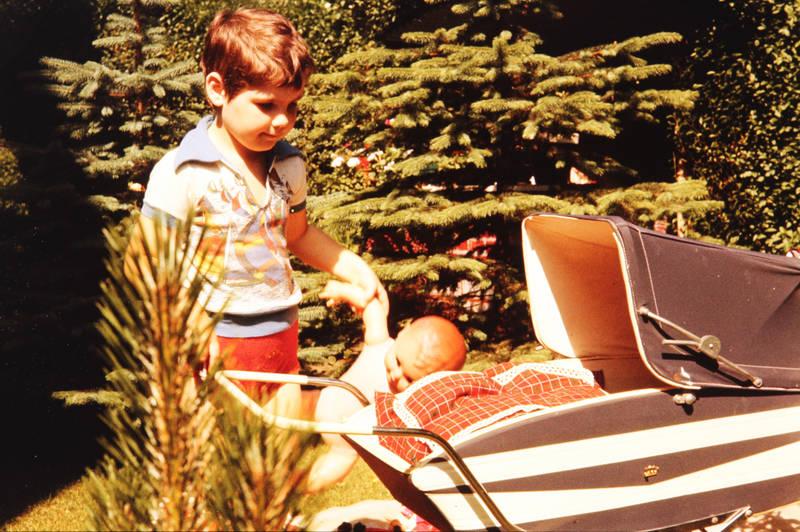garten, kinderwagen, Kindheit, puppe, Puppenwagen, Sommer, Spielzeug