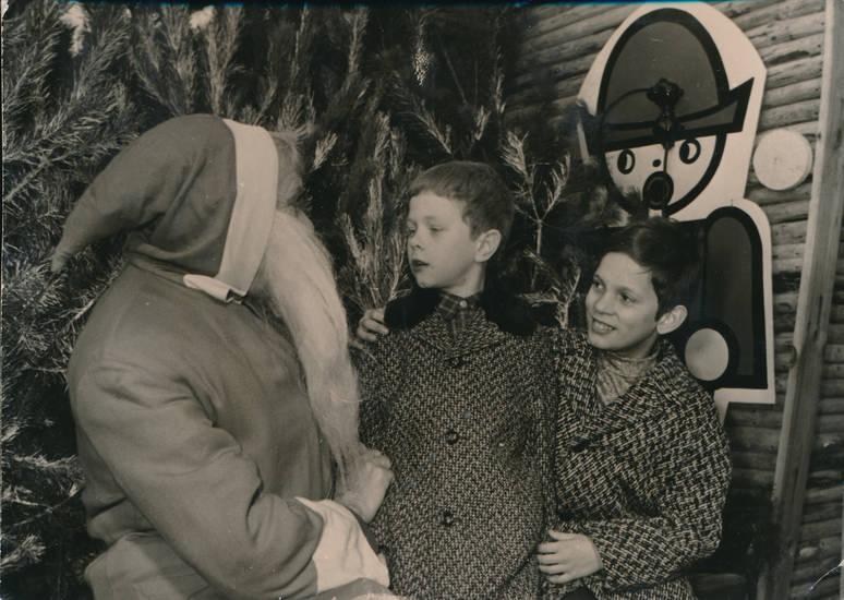 Bart, kinder, mantel, Nikolaus, Tanne, Weihnachtszeit