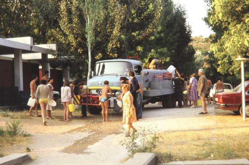 Campingplatz, Frischwasser, Kanister, tankwagen, wagen, wasser, Wasserkanister