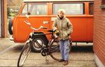 Stolzer Fahrradbesitzer