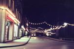 Abendliche Straße