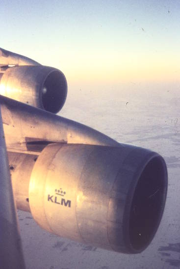 B747, boeing, flugzeug, KLM, luft, Sonne, Triebwerke