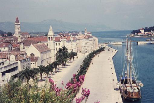 Segelschiff in Trogir