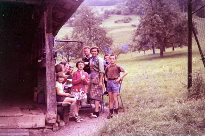 Alm, Bank, berghütte, kind, Kindheit, tisch