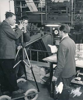 Eine Druckerei fotografieren