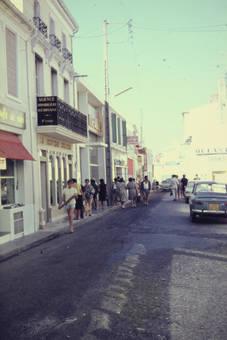 Eine Einkaufsstraße
