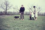 Im Garten mit dem Hund