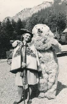 Foto mit Eisbär
