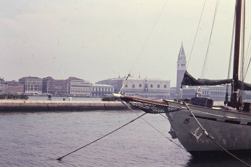 gewässer, Kanal, Markusturm, Segelschiff, Venedig