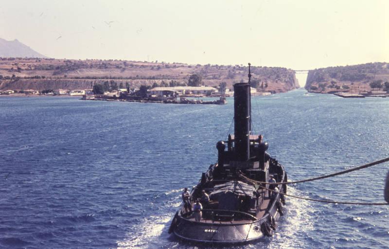 autoreifen, bucht, Griechenland, Kanal von Korinth, Lotse, lotsen, lotsendampfer, meer