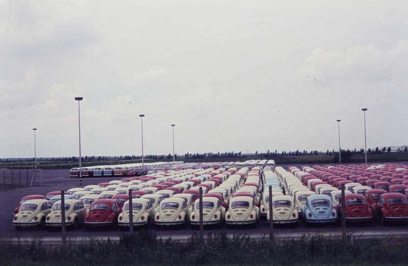 auto, emden, KFZ, Parkplatz, PKW, Volkswagenwerk, vw, VW Käfer, VW-Bus, VW-Käfer