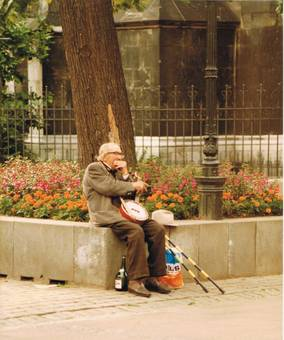 Aachen Straßenmusiker 1978