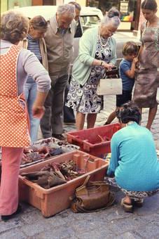 Krabbenverkauf