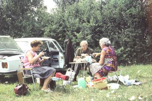Picknick neben dem Auto