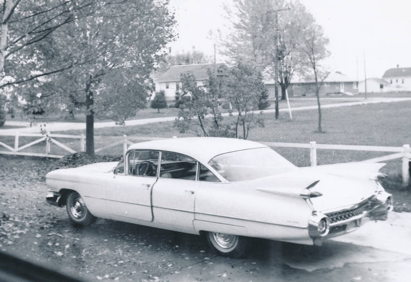 auto, Cadillac, Cadillac-Sedan-DeVille, KFZ, limousine, PKW, straßenkreuzer, zaun