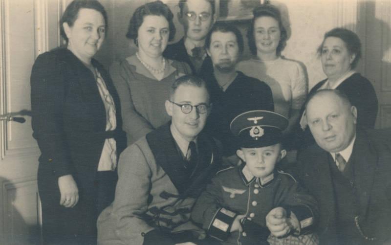 Brille, familie, Kindheit, mütze, soldat, Uniform, Wehrmacht