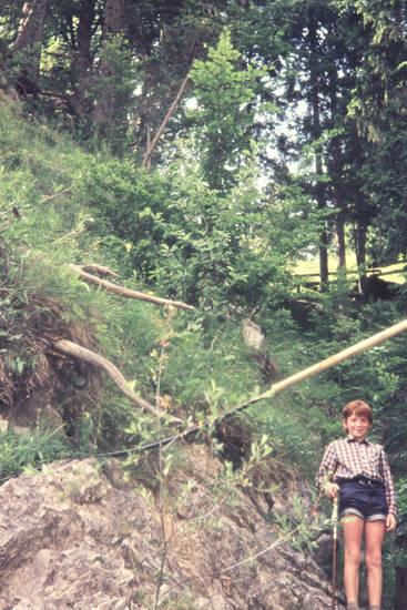 Berg, hang, Kindheit, wanderstock, Wanderung