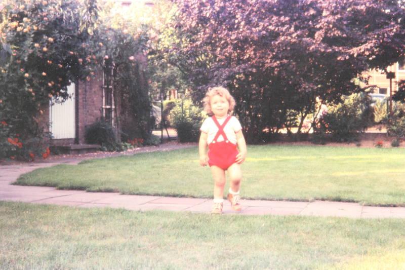 garten, gras, Kindheit, kleinkind, weg