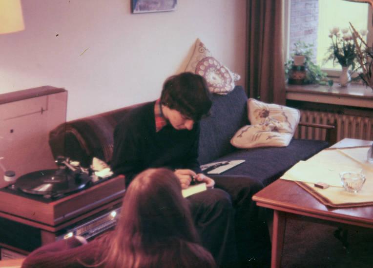 jugend, musik, Plattenspieler, Schallplattenspieler, sofa, tisch, wohnzimmer