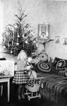Puppenspielerin an Weihnachten