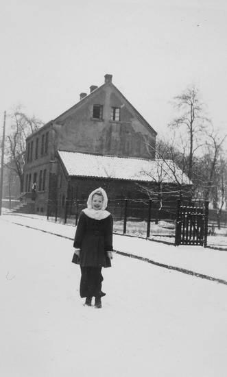 mütze, schnee, straße, winter