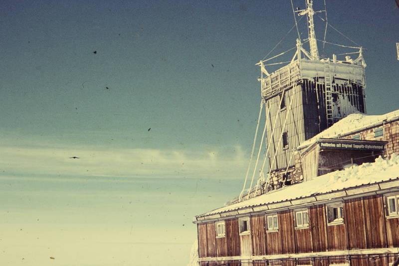 Eis, meteorologisches Observatorium, postkarte, schnee, Wetterstation, winter, Zugspitze