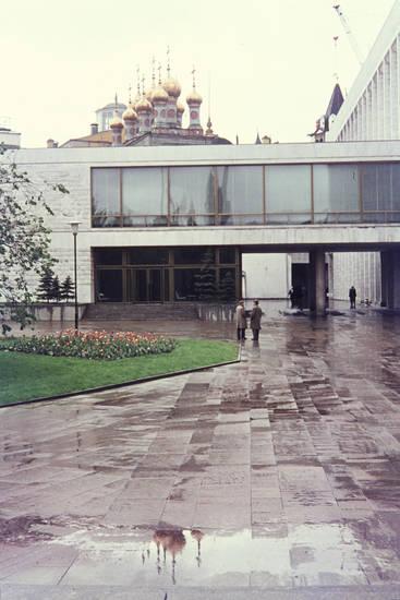 kongresspalast, Moskau, Pfütze, spiegelung